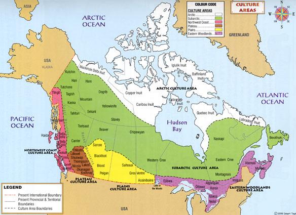 Cultural Map Canada Cultural Diversity | Heritage